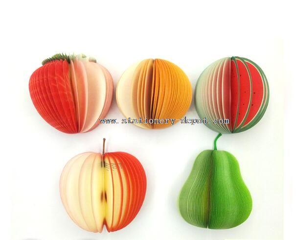 3D Fruit shape memo pad