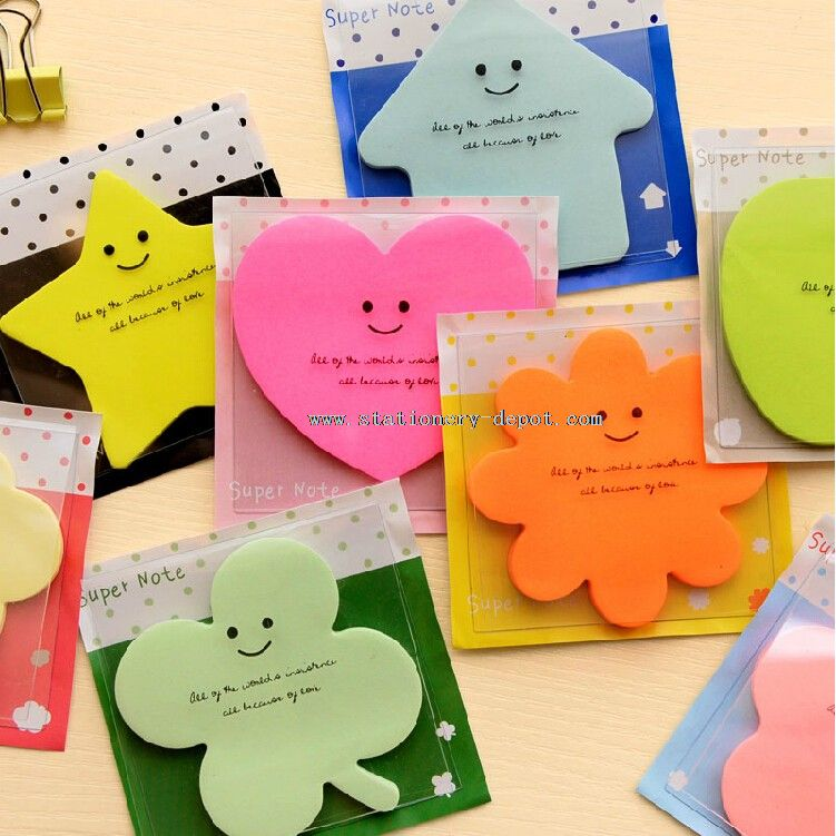 In Different Animal Shaped Sticky Notes