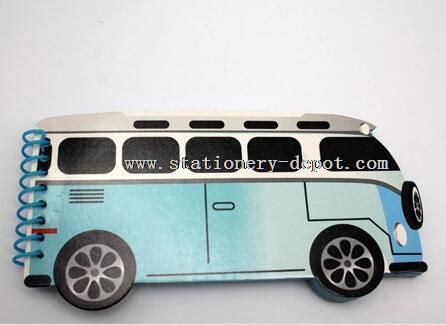 mini bus shaped spiral note pad