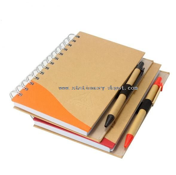 spiral notebook with elastic band