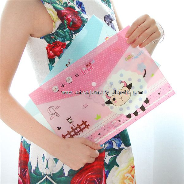 clear file bag with zipper