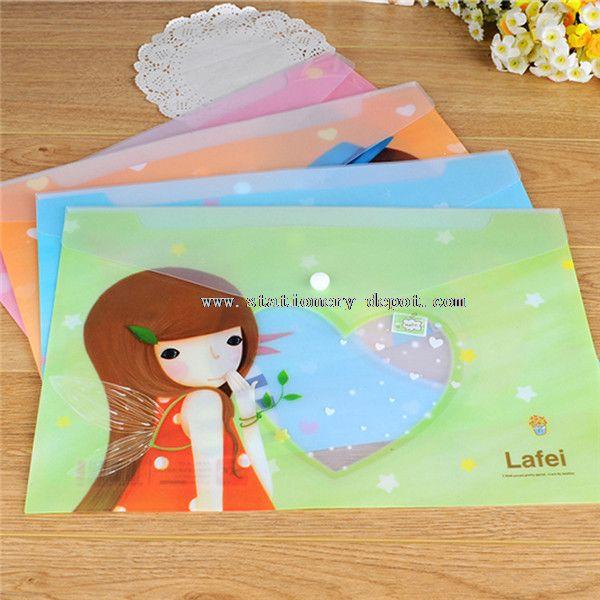 Creative design plastic file bag