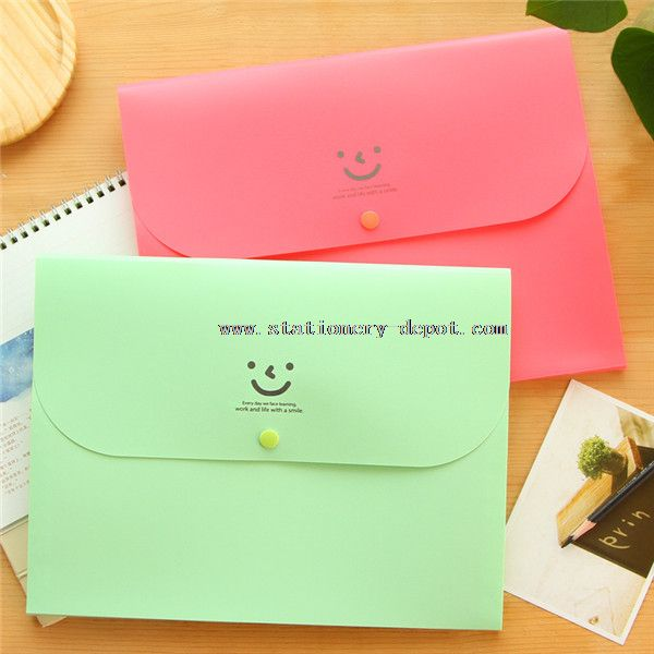 Eco-friendly neon color plastic file bag