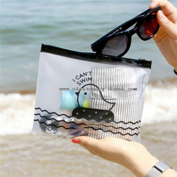 plastic clear file bag