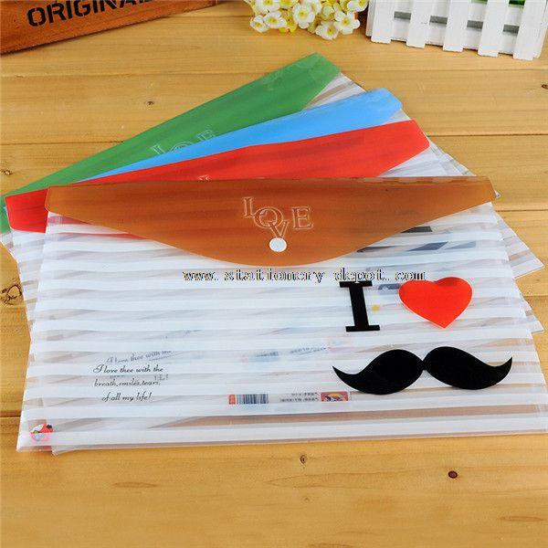 plastic file folder bag with printed