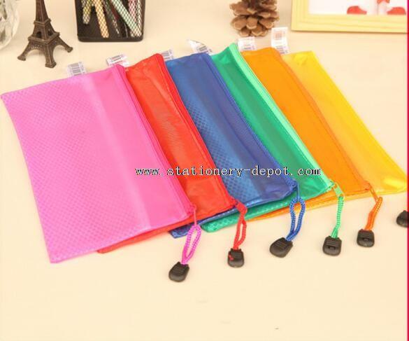 waterproof zipper pvc document bag