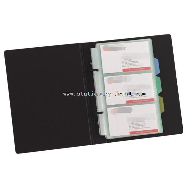 180 cards A4 2 ring Name card holder