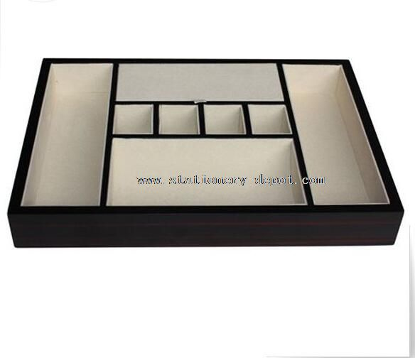 Functional office desktop tray organizer