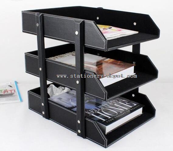 Leather file box file organizer