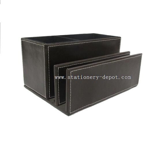multi-funcational leather document file tray