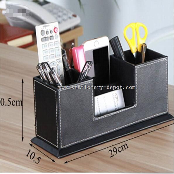 PU leather pen holder