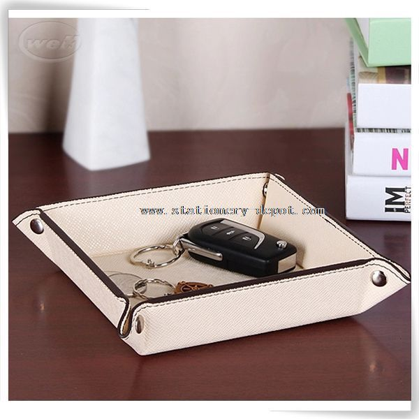 PU leather valet tray