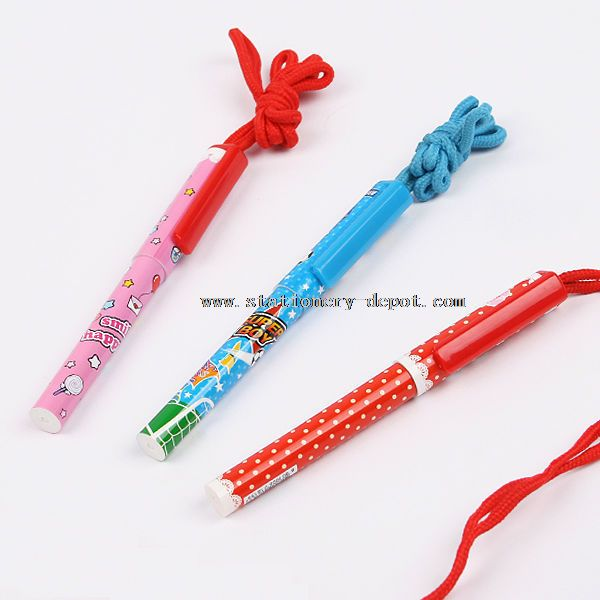 Promotional Plastic Pen with Lanyard