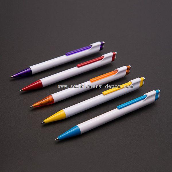 White Simplistic Value Click Ballpoint Pen