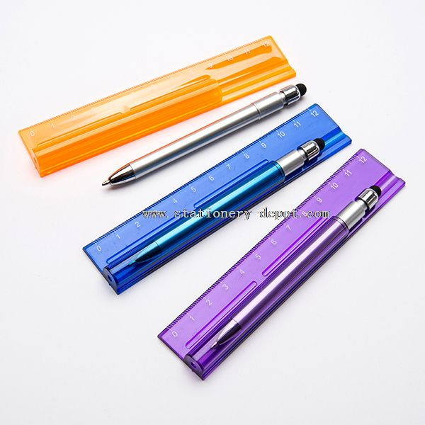 Multi-Function Mini Stylus Pen with Ruler