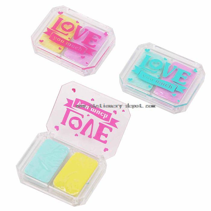 2pcs in 1 Box Block Eraser Cleaner