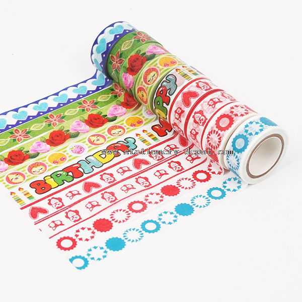 Colorful Adhesive Tissue Tape