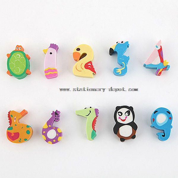 Crazy Erasers in the Shape of Animals