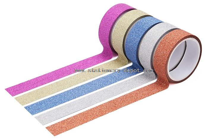 Glitter Customised DIY Washi Material Tape