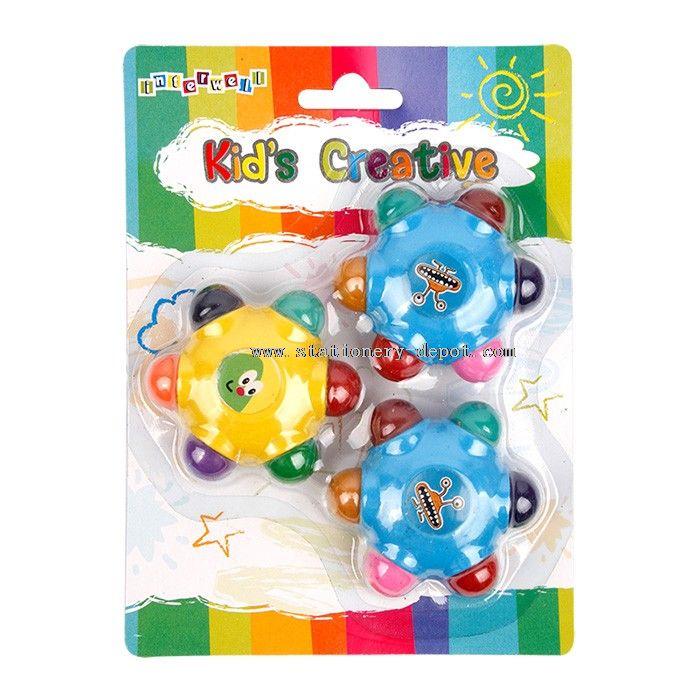 Kids 6 Color Erasable Crayon