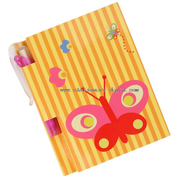 Lock Diary Paper Notebook with Pen