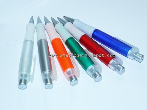 plastic material stationery ball pen slim