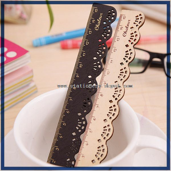 15cm scale parallel wooden ruler