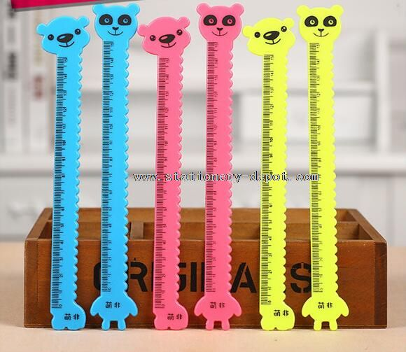 animal shapped funny making plastic ruler