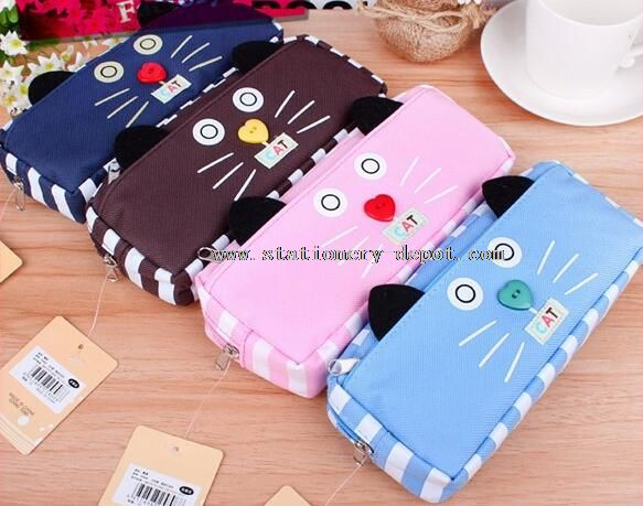 canvas animal shaped pencil case with zipper