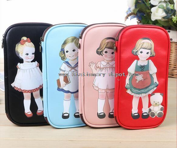 Cartoon pencil case for girl