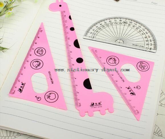plastic ruler set