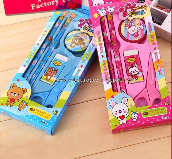 school kids stationery set