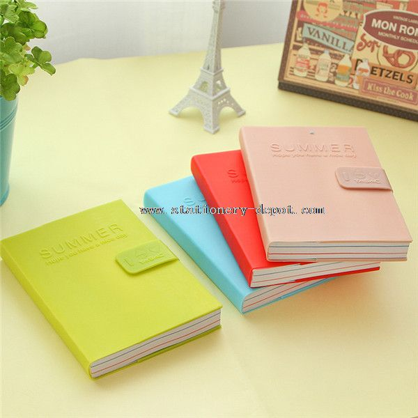64K pu leather graph paper notebook