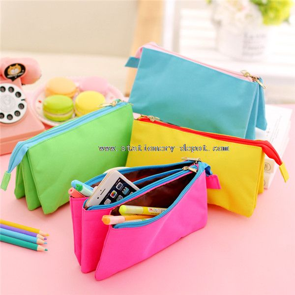 canvas multilayer large capacity smiggle pencil case
