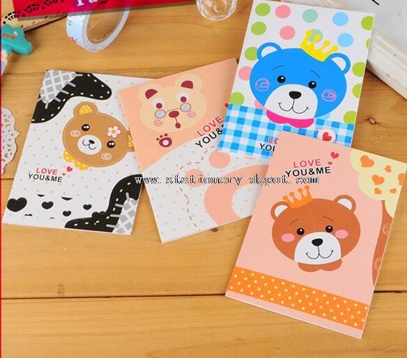 cartoon bear animal cover notebook