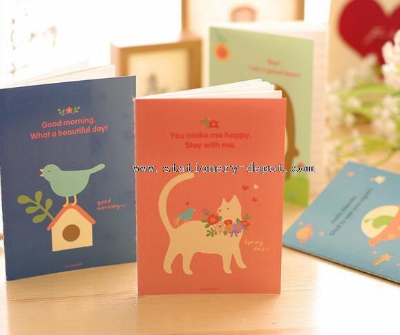cartoon paper notebooks writing pads