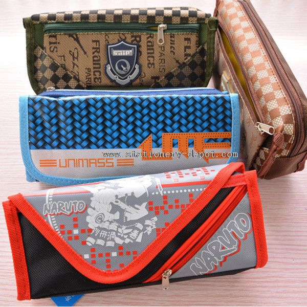 chool&offices fashionable plain folding multifunction pencil case