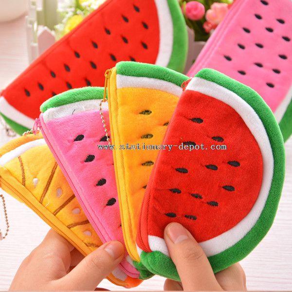Cute fabric watermelon design pencil case