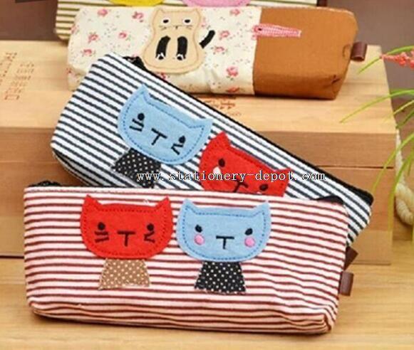 fabric pencil case with zipper