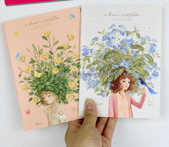 flower pattern china girl notebook