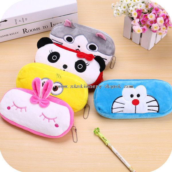 funny animals shaped fabric pencil case