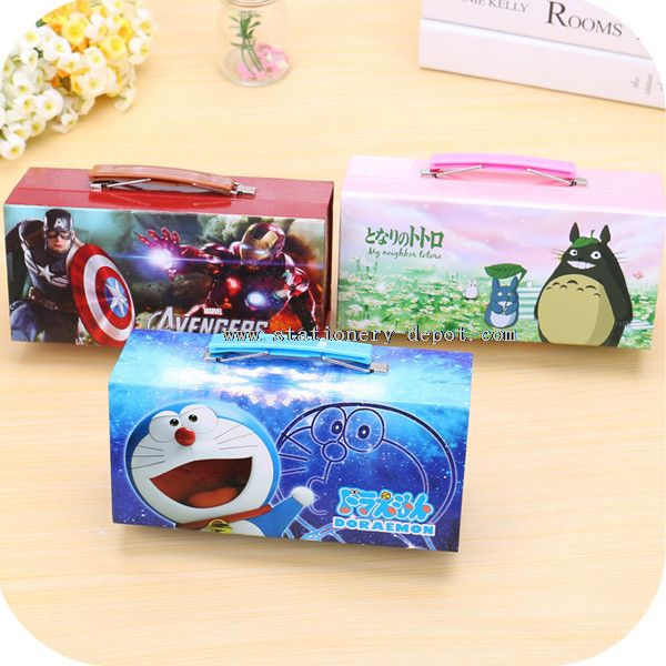 Funny pencil box with compartments
