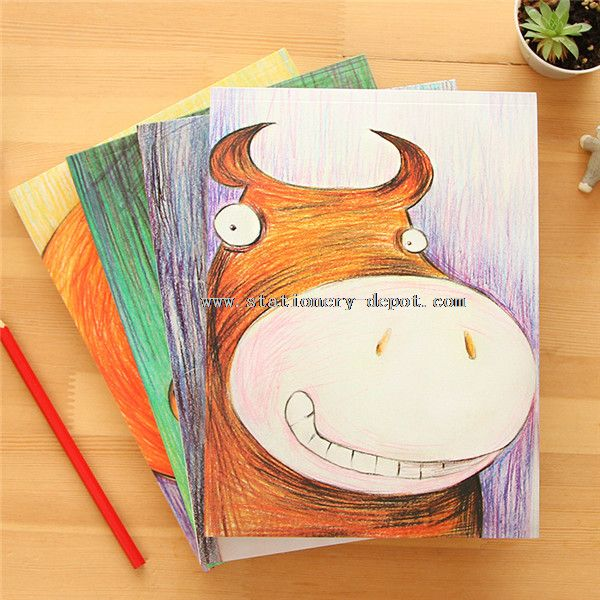 hard cover blank notebook