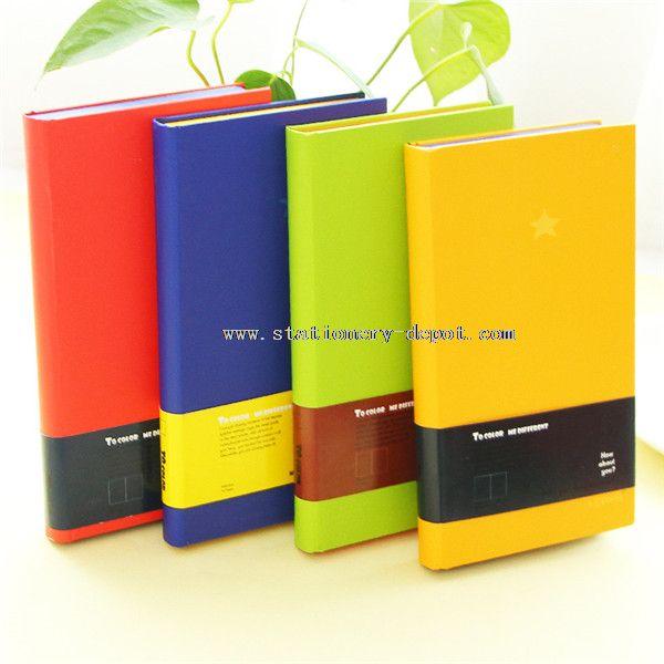 hardcover blank inner paper color edge notebook