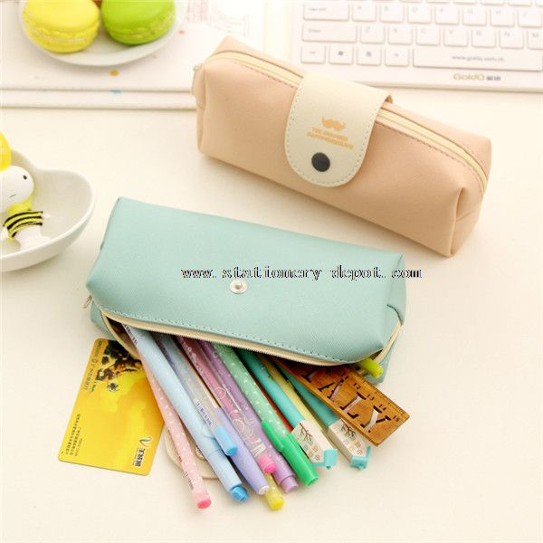 Leather pencil bags cases
