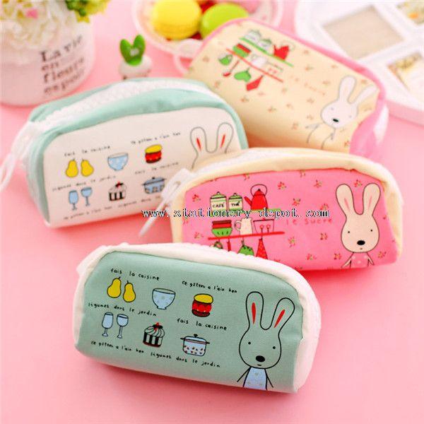 lovely rabbit big zipperpencil case