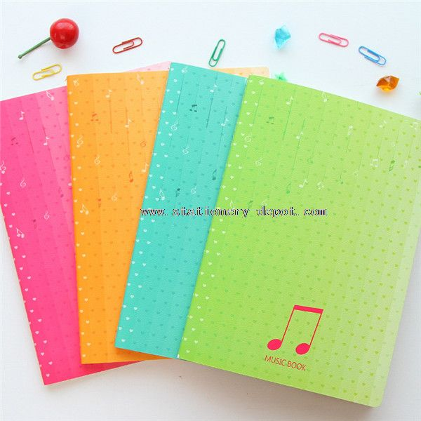 music book cover for notebook