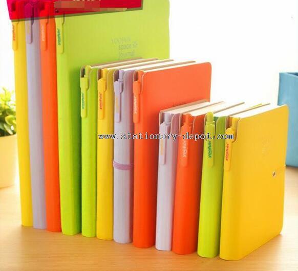 Neon color waterproof office notebook