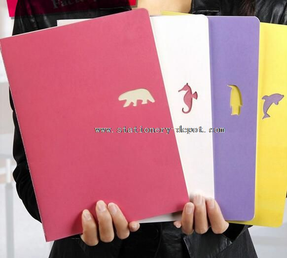 paper notebooks with animal printed