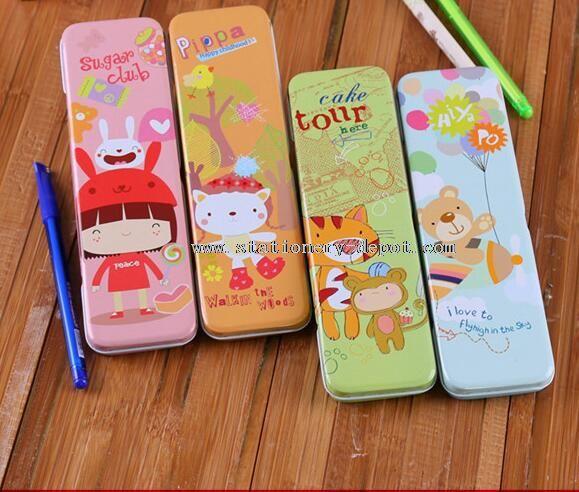 printed cute tin pencil case